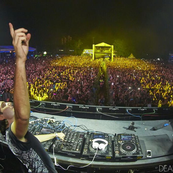 Alesso on stage